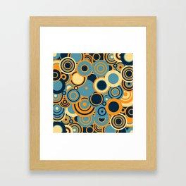 circles-blue-orange-cream Framed Art Print