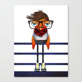 Hipster Bird Canvas Print