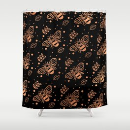 oh honey Shower Curtain