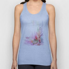 garden summer flowers  Unisex Tank Top