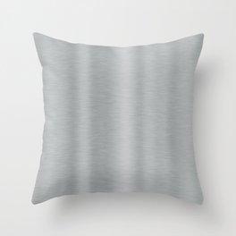 Aluminum Brushed Metal Throw Pillow