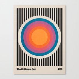 Vintage California Sun Canvas Print