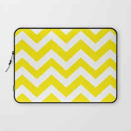 Canary yellow - yellow color - Zigzag Chevron Pattern Laptop Sleeve