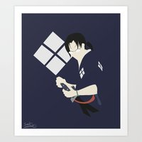samurai champloo Art Prints featuring Samurai Champloo - Jin Silhouette by SenilChris
