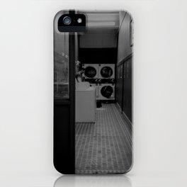 The Laundromat B&W iPhone Case