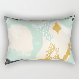 Tinsley - abstract painting minimalist decor nursery dorm college art gold navy Rectangular Pillow
