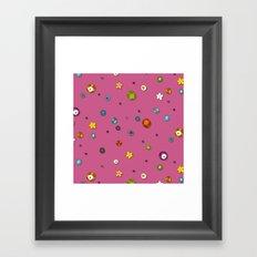 pink pop flower spot Framed Art Print