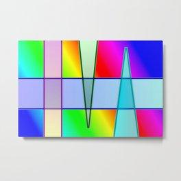 Shaded gradients ... Metal Print