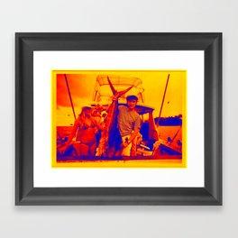 HUGH HEFNER ART POSTER FISHING CAPTAIN COOL Framed Art Print