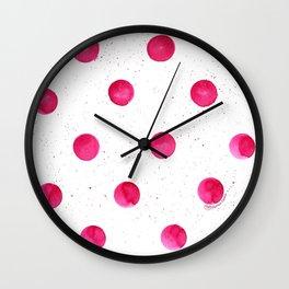 Pink Polka Dot Party Wall Clock