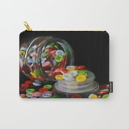 Glass Button Jar Carry-All Pouch