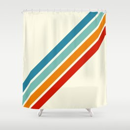 Alator - Classic 70s Retro Summer Stripes Shower Curtain