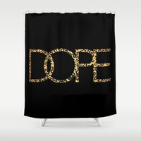 cocaine Shower Curtains featuring Dope by Dizzy Moments