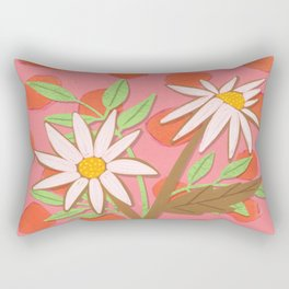 Daisies for You in Pink Rectangular Pillow