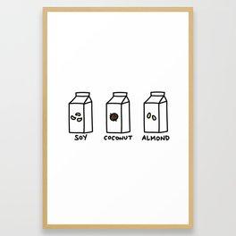 Soy Coconut Almond Framed Art Print