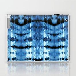 Indigo Satin Shibori Laptop & iPad Skin