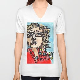 Elizabeth Warren Quote Unisex V-Neck