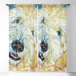 Stanley the Goldendoodle Dog Portrait Blackout Curtain
