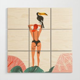Toucan Babe Wood Wall Art