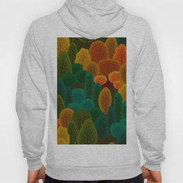 Stylized Autumn color trees pattern Hoody