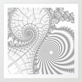 Peaks And Troughs 2 Art Print