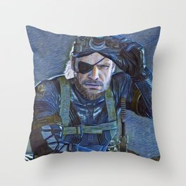 Solid Snake is a video game character and one of the primary protagonists of the Metal Gear series c Throw Pillow