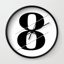 """Sliced Collection"" - Minimal Number Eight Print Wall Clock"