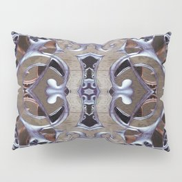 Silver Bronze Enchanted Rococo Keyhole Gothic Mandala Pillow Sham