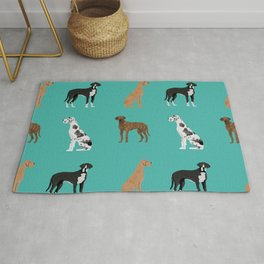 Great Danes mixed coats dog breed must have pure breed lovers Rug