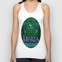 astrology Tank Tops featuring Libra Zodiac Sign Astrology by CAP Artwork & Design