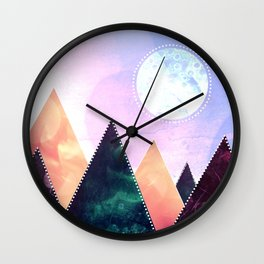 Sunrise of the moon Wall Clock