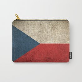 Old and Worn Distressed Vintage Flag of Czech Republic Carry-All Pouch