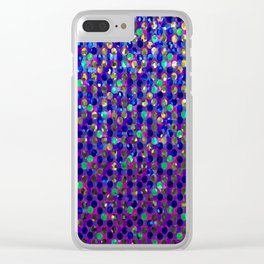 Polka Dot Sparkley Jewels G263 Clear iPhone Case