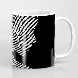 Fingerprint Silhouette Portrait Coffee Mug