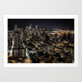 Seattle from the Space Needle Art Print