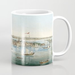 Vintage Panoramic Map of NYC (1844) Coffee Mug