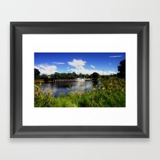 Life in the Gippsland Lakes & River System Framed Art Print