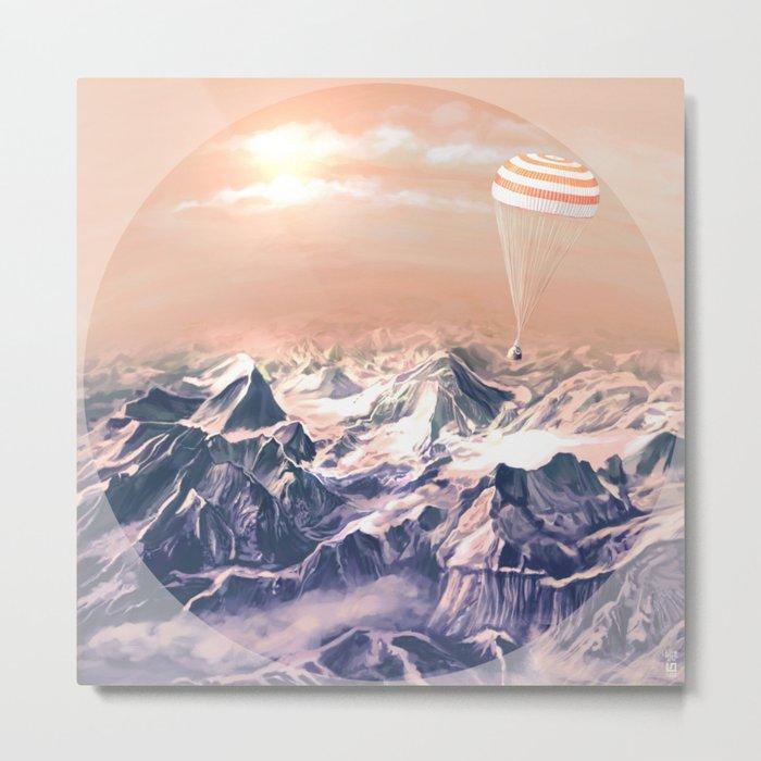 Astronaut Returns II Metal Print