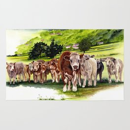 Herd It Throught the Grapevine Rug