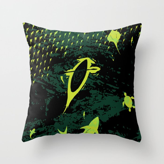 Bioluminescent Bay, Vieques, PR Throw Pillow