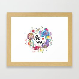Go veg Framed Art Print