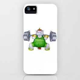 Unicorn Weight Lifter iPhone Case