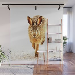 Wait For Me Guys! Hare running #decor #society6 #buyart Wall Mural