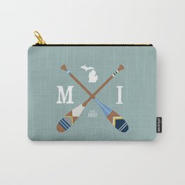 Paddle MI, Michigan Lake Life Painted Oars Carry-All Pouch