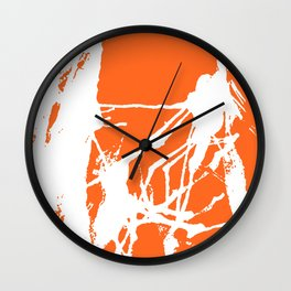 Orange Base Wall Clock