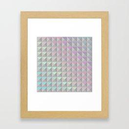 Silver Xs Framed Art Print