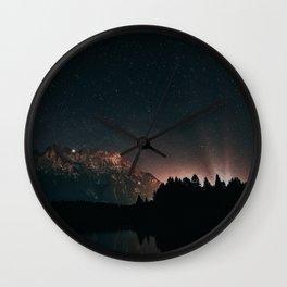 Starry nightlights Wall Clock