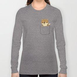 pocket shiba Long Sleeve T-shirt