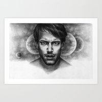 monika strigel Art Prints featuring The Size of My Soul - Monika Jasnauskaite by Junkie Juice