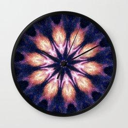 Lightening Mandala Wall Clock